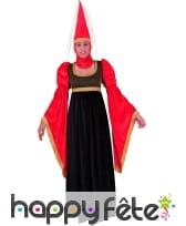 Costume princesse Ursule du moyen-âge