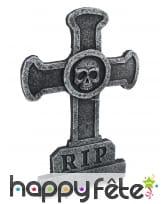 Croix rip avec crâne de 58cm