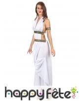 Costume robe blanche de reine grecque, image 2