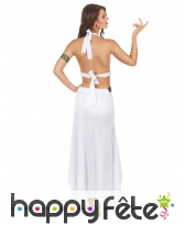 Costume robe blanche de reine grecque, image 3