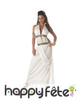 Costume robe blanche de reine grecque