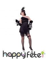 Costume robe charleston noire à franges