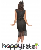Costume robe charleston noire mi-longue, image 2