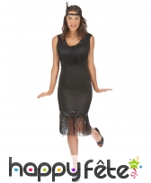Costume robe charleston noire mi-longue