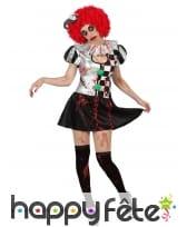 Costume robe courte arlequin en sang