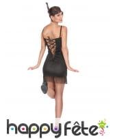Costume robe courte Charleston noire pailletée, image 3