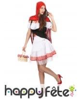 Costume robe courte de chaperon rouge pour femme, image 1
