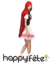 Costume robe courte de chaperon rouge pour femme, image 2
