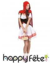Costume robe courte de chaperon rouge pour femme