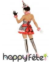 Costume robe courte de mime avec jupon, image 2
