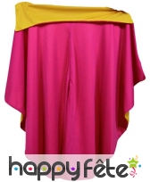 Cape rose de torero avec col jaune