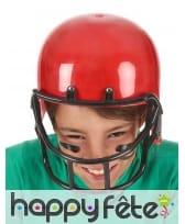 Casque rouge de footballeur américain, enfant, image 2