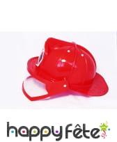 Casque rouge de pompier avec visière, pour adulte, image 1