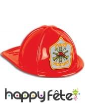 Casque rouge de pompier pour adulte