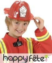 Casque rouge de pompier taille enfant