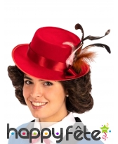 Chapeau rouge de gouvernante anglaise
