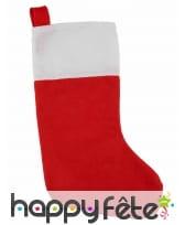 Chaussette rouge de Noël en feutrine, 37cm