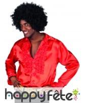 Chemise rouge disco pour homme adulte