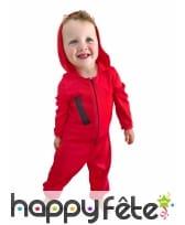 Combinaison rouge de braqueur pour bébé, image 1
