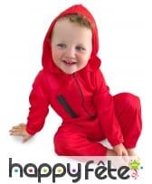 Combinaison rouge de braqueur pour bébé