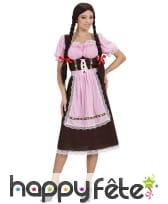 Costume robe de bavaroise avec tablier
