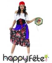 Costume robe de bohémienne pour femme