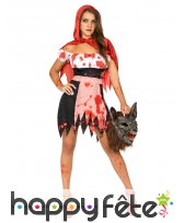 Costume robe de chaperon rouge zombie adulte