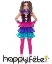 Costume robe de femme clown tutu coloré, image 1