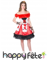 Costume robe de la reine de coeur avec lacage, image 1