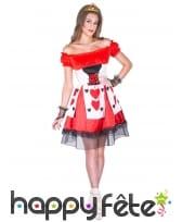 Costume robe de la reine de coeur avec lacage