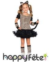 Costume robe de petit léopard pour fille