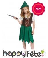 Costume robe de robin des bois pour petite fille