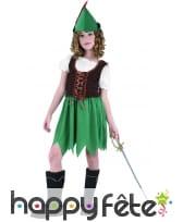 Costume robe de robin pour petite fille, image 3