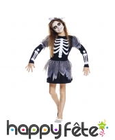 Costume robe de squelette pour fille