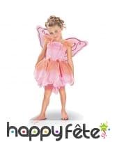 Costume rose de princesse papillon pour enfant