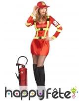 Costume rouge de femme pompier sexy, image 1