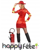 Costume rouge de femme pompier sexy, image 2