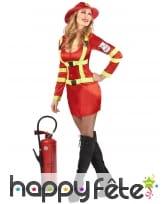 Costume rouge de femme pompier sexy