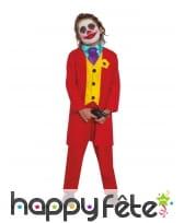 Costume rouge de fou de BD pour enfant