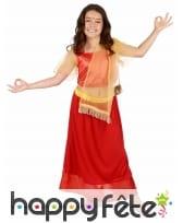 Costume rouge de petite Danseuse de Bollywood