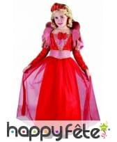 Costume rouge de reine médiévale pour fille, image 2