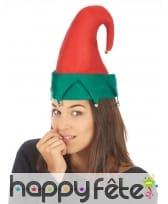 Chapeau rouge et vert de lutin de Noël, image 1