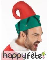 Chapeau rouge et vert de lutin de Noël, image 2