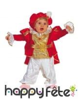Costume rouge et doré de bébé prince