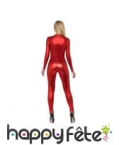 Combinaison rouge moulante intégrale pour femme, image 2