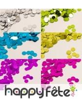 Confettis ronds métalisés de 6mm