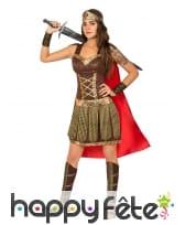 Costume robe marron de gladiatrice