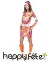 Costume robe mi cuisse avec motifs hippies, image 1