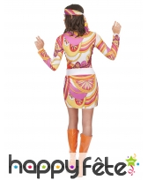 Costume robe mi cuisse avec motifs hippies, image 2