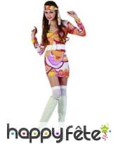 Costume robe mi cuisse avec motifs hippies, image 3